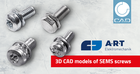 A.R.T. offers SEMS screws with contact washer as free 3D CAD download