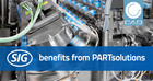 SIG benefits from the integration of the PLM system CIM DATABASE in PARTsolutions by CADENAS
