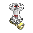 3D CAD MODELS- SISTO 16 RGA - Maintenance free Threaded fittings Red brass Diaphragm Valve