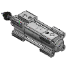 3D CAD MODELS- SMC - C96S - ISO Cylinder:Standard Double Acting,Single/Double Rod