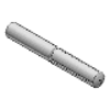 3D CAD MODELS - Bossard Catalog - BN 885 - Grooved pins half length reverse taper grooved (DIN 1474; ISO 8741), 11SMnPb30, plain - BN 885 1346156 grooved pin 5x12