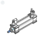 3D CAD MODELS- C96-E - ISO Cylinder: Standard, Double Acting, Single/Double Rod/Energy Saving