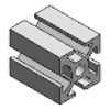 3D CAD MODELS- Maschinenbau Kitz - Profile mk 2040.01 - Profile series 40