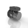 3D CAD MODELS- Motovario - HS - Electric Motor High starting torque single phase with electric switch series
